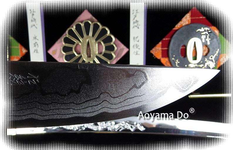 Рисунки на японских ножах